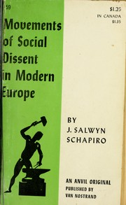 Cover of: Movements of social dissent in modern Europe