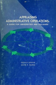Cover of: Appraising administrative operations | Gerald Griffin