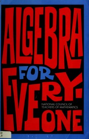 Cover of: Algebra for Everyone