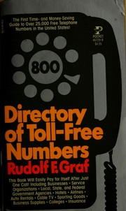 Cover of: Directory of toll-free numbers