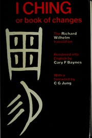 Cover of: The I Ching Or Book of Changes | Carl Gustav Jung