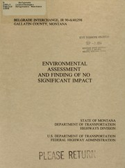 Cover of: Belgrade interchange, Belgrade, Montana | Montana. Highways Division