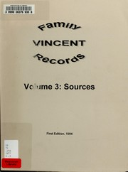 Cover of: Vincent family records