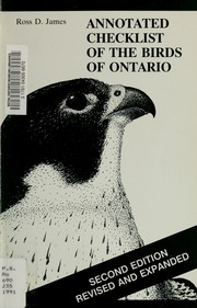 Cover of: Annotated Checklist of the Birds of Ontario (Life Sciences Miscellaneous Publication)