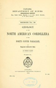 Cover of: Geology of the North American cordillera at the forty-ninth parallel