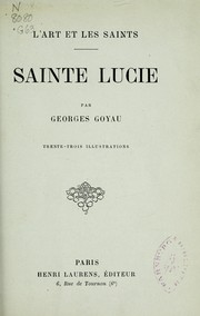 Cover of: Sainte Lucie