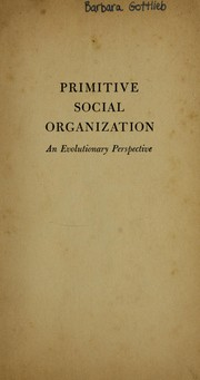 Cover of: Primitive social organization