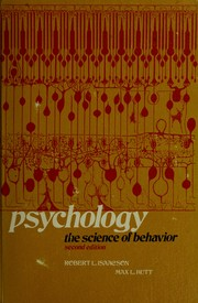 Cover of: Psychology: the science of behavior | Robert L. Isaacson