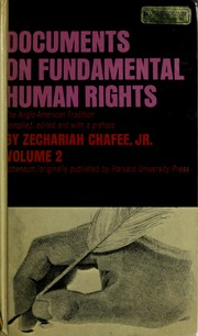 Cover of: Documents on fundamental human rights, the Anglo-American tradition