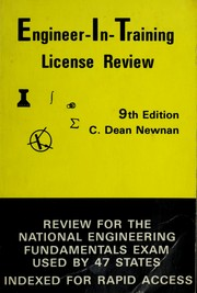 Cover of: Engineer-in-training license review | C. Dean Newnan