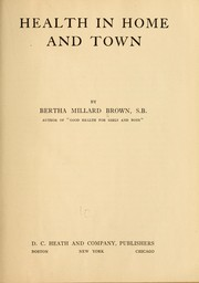 Cover of: Health in home and town