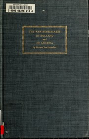 Cover of: The Van Rensselaers in Holland and in America
