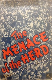 Cover of: The menace of the herd