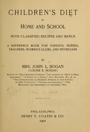 Cover of: Children's diet in home and school