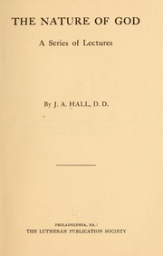 Cover of: The nature of God | John Andrew Hall