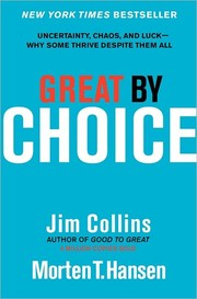 Cover of: Great by choice