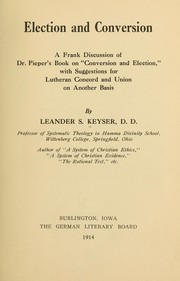 Cover of: Election and conversion