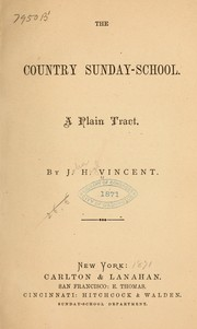 Cover of: The country Sunday-school