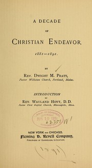 Cover of: A Decade of Christian Endeavor, 1881-1891