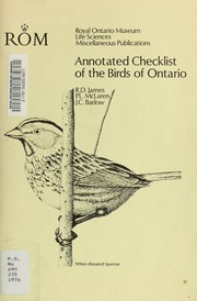 Cover of: Annotated checklist of the birds of Ontario | Ross James