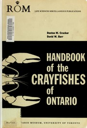 Cover of: Handbook of the crayfishes of Ontario