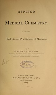 Cover of: Applied medical chemistry