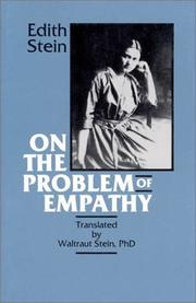 Cover of: On the problem of empathy