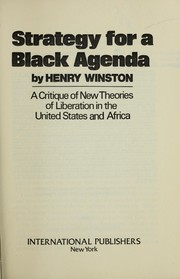 Cover of: Strategy for a Black agenda