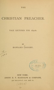 Cover of: The Christian preacher