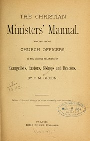 The Christian ministers manual