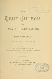 Cover of: The true church