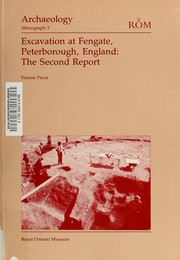 Cover of: Excavation Fengate Peterboroug (Archaeology Monograph) | Francis Pryor