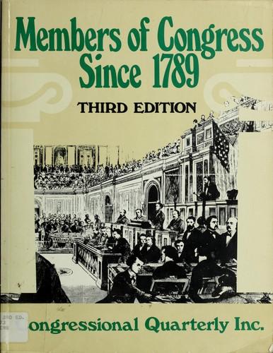 Members of Congress since 1789.