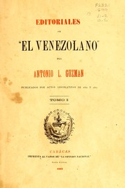 "Cover of: Editoriales de ""El Venezolano"""