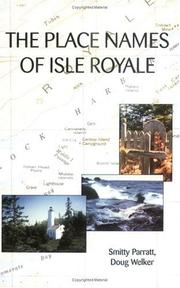 Cover of: The place names of Isle Royale