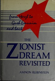 Cover of: The Zionist Dream Revisted