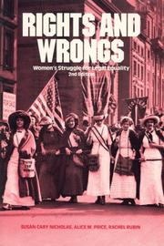 Cover of: Rights and wrongs | Susan Cary Nicholas