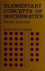 Cover of: Elementary concepts of mathematics