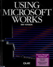 Cover of: Using Microsoft works | Douglas J. Wolf