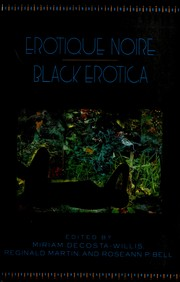 Cover of: Erotique Noire Black Erotica | Miriam Decosta