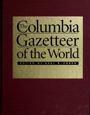 Cover of: The Columbia gazetteer of the world