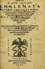 Cover of: Omnia D. And. Alciati emblemata