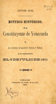 Cover of: Estudio histórico