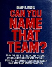 Cover of: Can you name that team? | David B. Biesel
