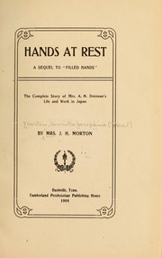 Cover of: Hands at rest | Henrietta Josephine Neal Morton