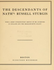 Cover of: The descendants of Nath'l Russell Sturgis