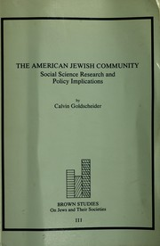 Cover of: The American Jewish community