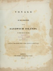 Cover of: Voyage of HMS Blonde to the Sandwich Islands in the years 1824-1825