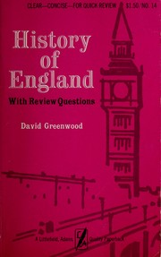 Cover of: History of England