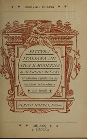 Cover of: Pittvra italiana antica e moderna